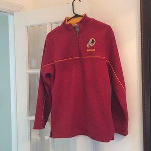 Redskins pullover half zip fleece size 18/20